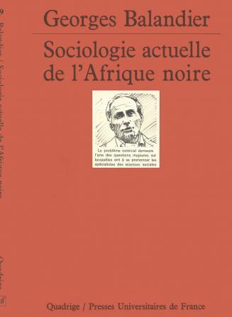 Sociologie actuelle Afrique noire