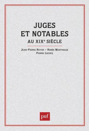 Juges et notables au XIXe siècle