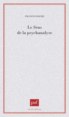 Le sens de la psychanalyse