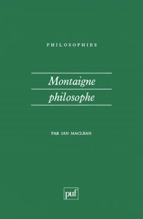 Montaigne philosophe