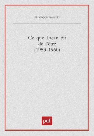 Ce que Lacan dit de l'être