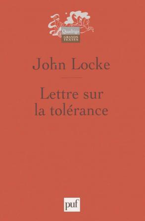 Lettre sur la tolérance