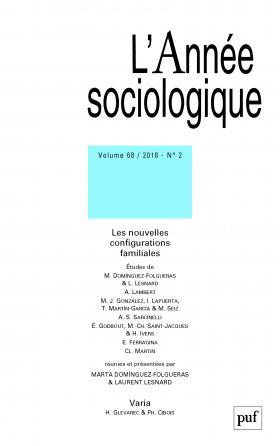 année sociologique 2018, vol. 68 (2)