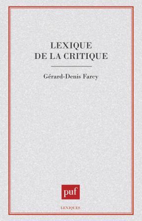 Lexique de la critique