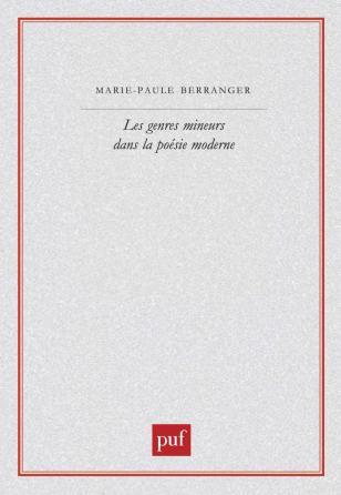 Les genres mineurs dans la poésie moderne