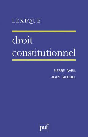 Lexique / droit constitutionnel