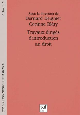 Travaux dirigés d'introduction au droit