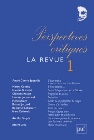 Perspectives critiques : la Revue 1