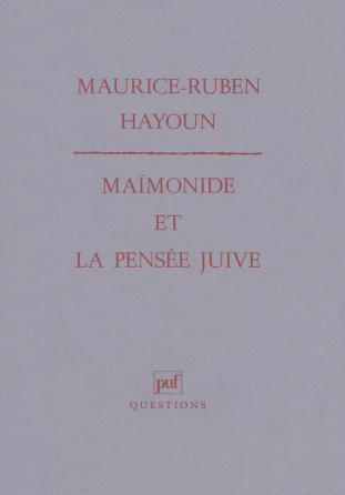 Maïmonide et la pensée juive
