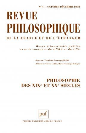 Revue philosophique 2018, t. 143 (4)