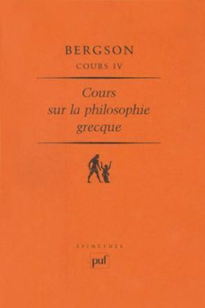 Cours sur la philosophie grecque (Cours IV)