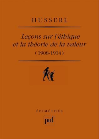 Leçons sur l'éthique et la théorie de la valeur (1908-1914)