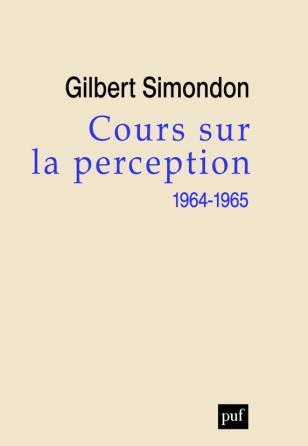 Cours sur la perception (1964-1965)