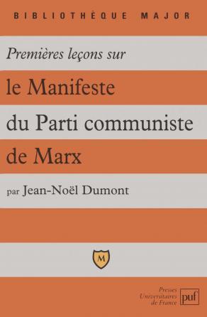 Premières leçons sur le Manifeste du parti communiste de Marx