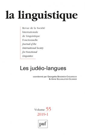 linguistique 2019, vol. 55 (1)