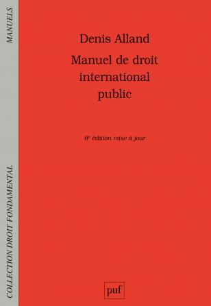 Manuel de droit international public