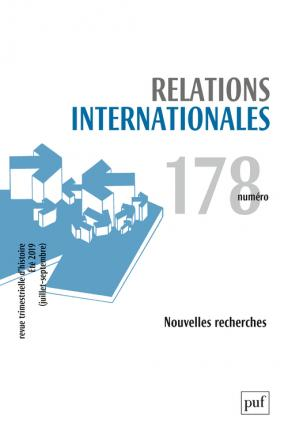 Relations internationales 2019, n° 178
