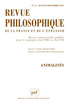 Revue philosophique 2019, t. 144 (3)
