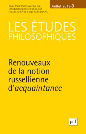 études philosophiques 2019, n° 3