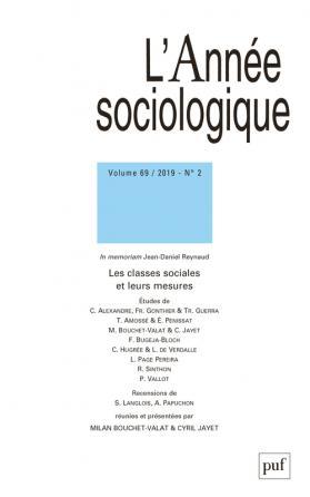 année sociologique 2019, vol. 69 (2)