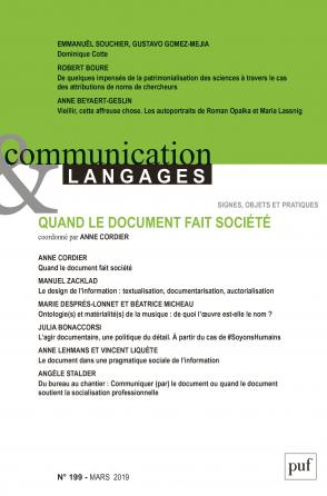 COMMUNICATION & LANGAGES- 2019 - 199