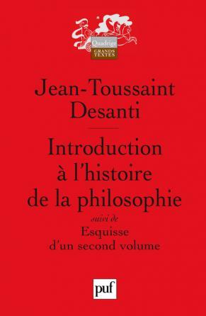 Introduction à l'histoire de la philosophie