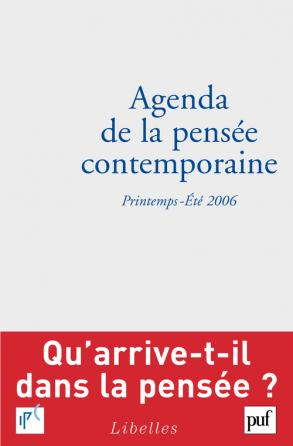 Agenda de la pensée contemporaine 2006/1-2