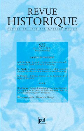 Revue historique 2004, n° 632