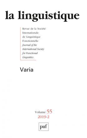 La Lingusitique 2019-2