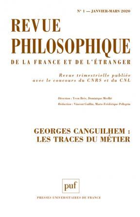 Revue philosophique 2020, t. 145 (1)