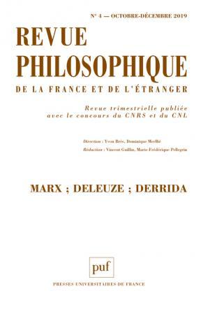 Revue philosophique 2019, t. 144 (4)