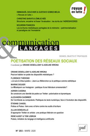 Communication et langages 2020, n°203