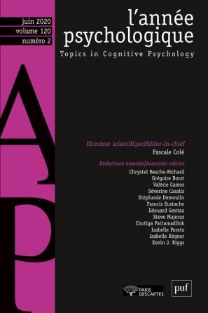 L'année psychologique n° 120 (2/2020)