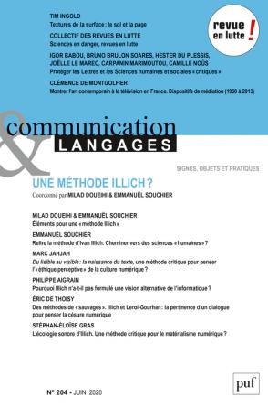 Communication et langages 2020, N.204