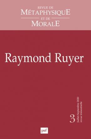 Revue de métaphysique et morale, 2020, N°3