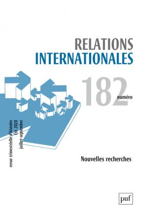Relations internationales 2020, N.182