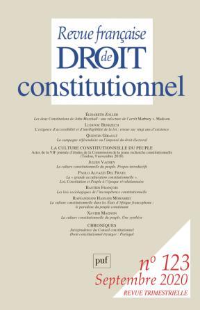 Revue française de droit constitionnel (123) 2020-3