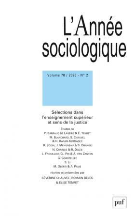 L'année sociologique 2020, vol. 70 (2)
