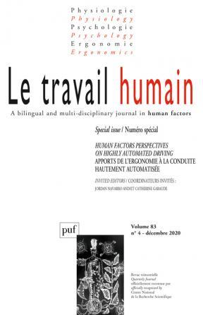 LE TRAVAIL HUMAIN 2020-4, VOL. 83, N.4