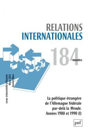 Relations internationales 2020, N.184