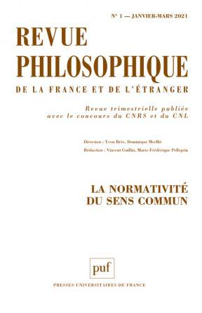 Revue philosophique, 2021 n° 1