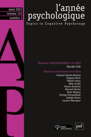 L'ANNEE PSYCHOLOGIQUE 121-1