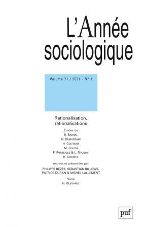 L'Année sociologique 2021-1