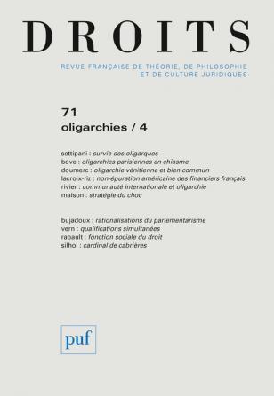 DROITS 2020, N.71