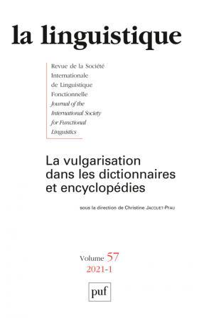 LA LINGUISTIQUE 2021, VOL. 57(1)