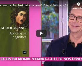 Gérald Bronner- Invité de Clique - Canal +