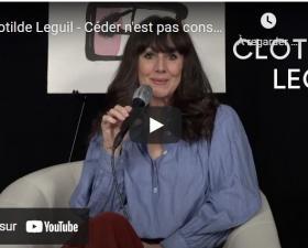 """Clotilde Leguil présente """"Céder n'est pas consentir"""" - Librairie Mollat"""