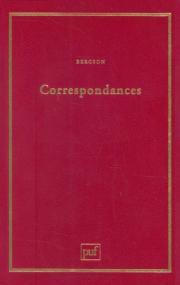 Bergson - correspondance