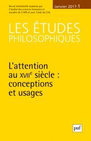 études philosophiques 2017, n° 1