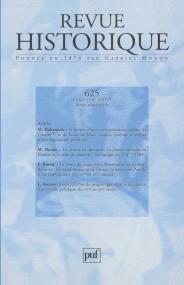 Revue historique 2003, n° 625